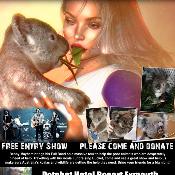 Poster from Save The Koalas Tour Exmouth